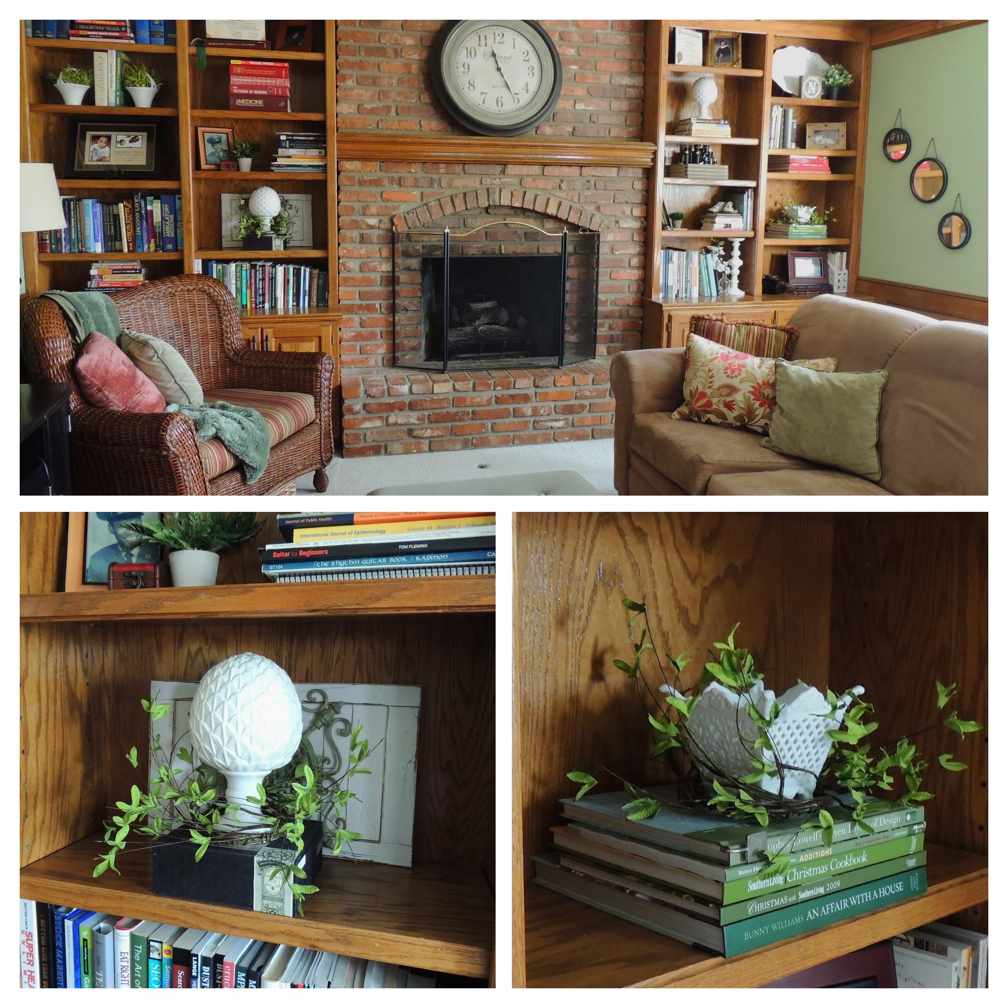 Living room bookshelves. www.tabletwentyone.wordpress.com