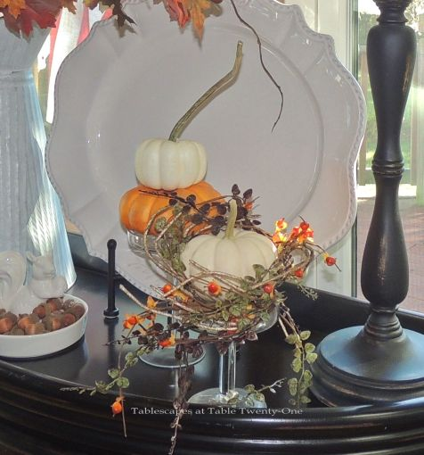 Autumn Flourishes 2017 Tablescapes at Table 21 : kitchen table by window pumpkinswm from tabletwentyone.blog size 476 x 510 jpeg 52kB
